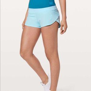"""lululemon speed up shorts 2.5"""" blue glow"""